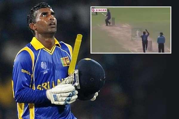 VIDEO: श्रीलंकाई बल्लेबाज का अजीबोगरीब शॉट!